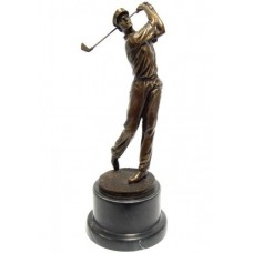 Bronzový golfista
