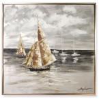 Olejomaľba loďky