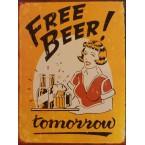 Tabuľa Zítra pivo zdarma