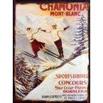 Plechová ceduľa Chamonix